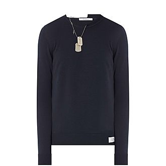 Army Tag Crew Neck Sweater