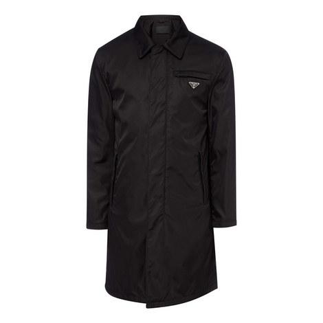 Nylon Plaque Mac Jacket, ${color}