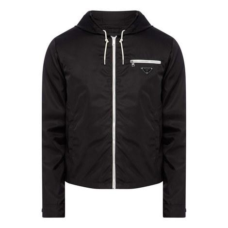 Nylon Logo Plaque Jacket, ${color}