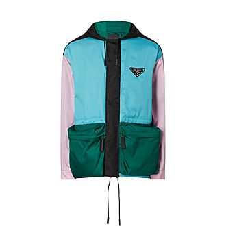 Colour-Block Gabardine Jacket