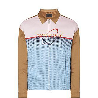 Colour-Block Blouson Jacket