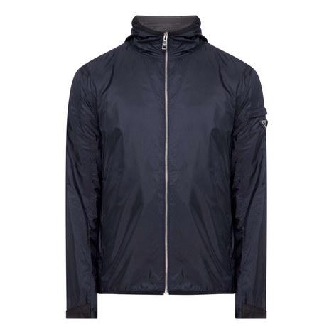 Nylon Logo Sleeve Jacket, ${color}