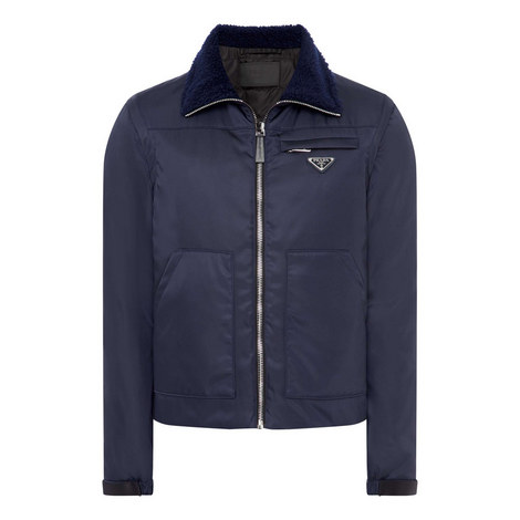 Shearling Collar Gilet Coat, ${color}