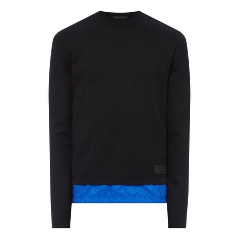 Nylon Hem Sweater, ${color}