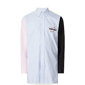 Colour-Block Stripe Shirt