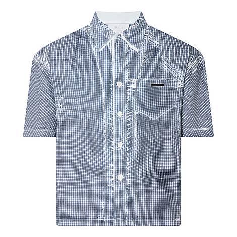 Stencil Check Bowling Shirt, ${color}