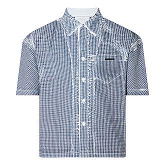 Stencil Check Bowling Shirt