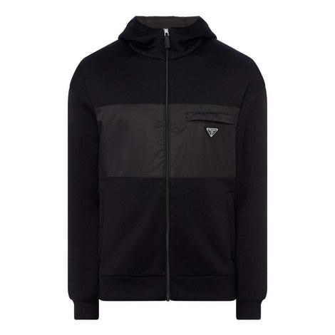 Contrast Panel Zip-Up Sweatshirt, ${color}