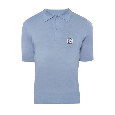 Logo Knit Polo Shirt, ${color}