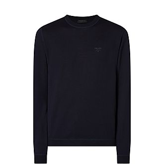 Embroidered Logo Wool Jumper