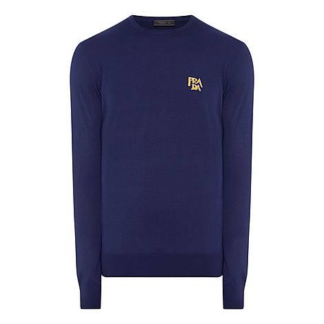 Intarsia Logo Sweater, ${color}