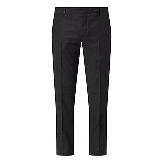 Casual Virgin Wool Trousers