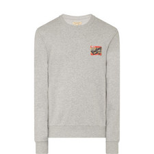 Graffiti Ticket Print Sweatshirt