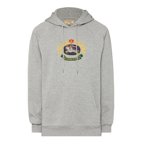 Embroidered Crest Logo Hoodie , ${color}