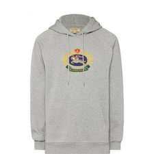 Embroidered Crest Logo Hoodie