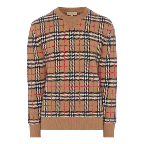 Cashmere Check Sweater, ${color}
