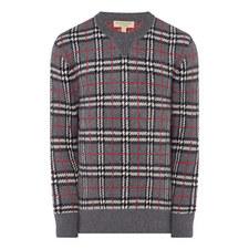 Cashmere Check Sweater
