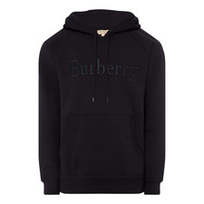 Embroidered Logo Jersey Hoodie