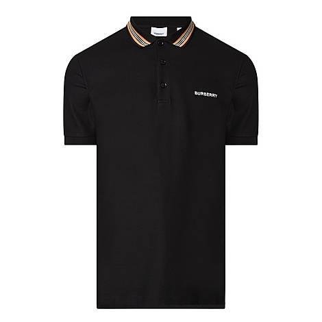 Johnston Checked Collar Polo Shirt, ${color}