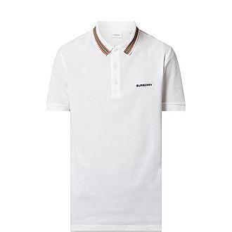 Johnston Checked Collar Polo Shirt