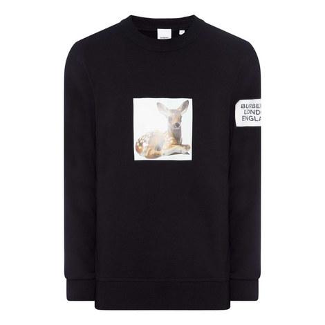 Deer Print Sweatshirt, ${color}