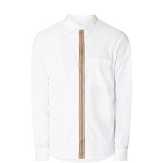 Striped Placket Slim Fit Shirt
