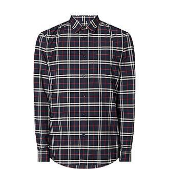 Simple Small Check Shirt