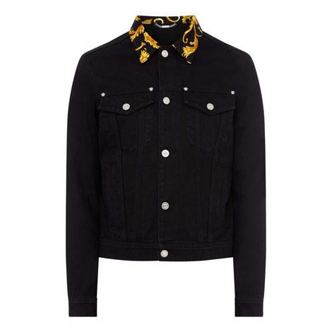 Baroque Collar Denim Jacket, ${color}