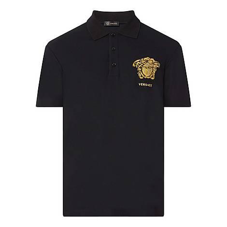 Embroidered Medusa Polo Shirt, ${color}
