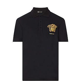 Embroidered Medusa Polo Shirt