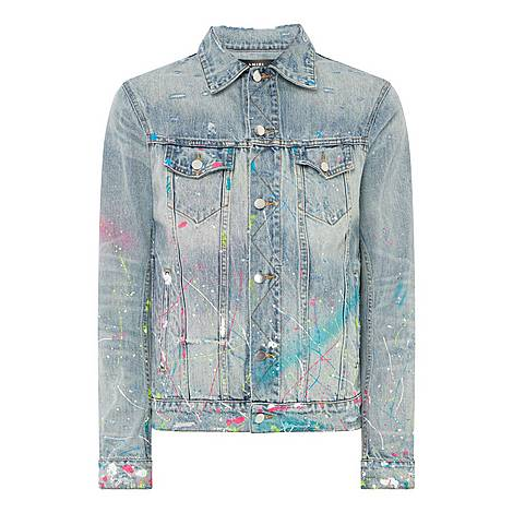 Graffiti Denim Jacket, ${color}