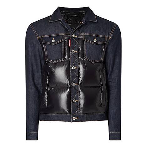 Contrast Quilted Denim Jacket, ${color}