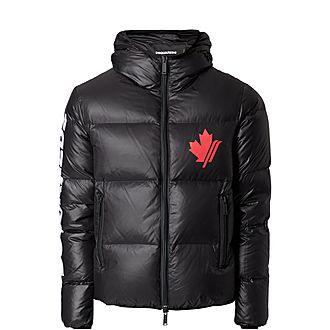 Logo Sleeve Hooded Jacket