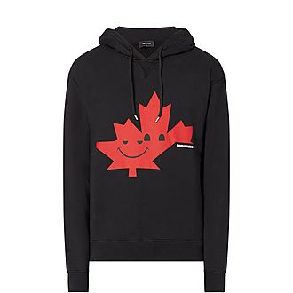 Smiley Maple Leaf Hoodie