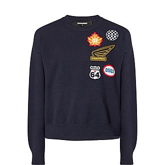 Patches Crew Neck Sweater