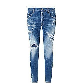 Destroyed Skater Skinny Jeans