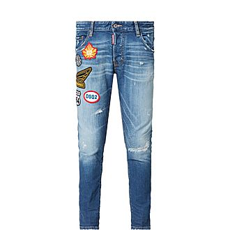 Patch Slim-Fit Jeans