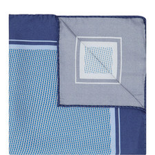 Micro Pattern Silk Pocket Square