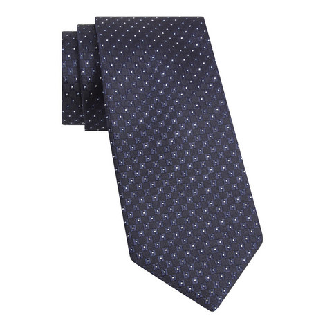 Contrast Square Silk Tie, ${color}
