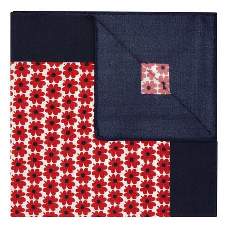 Floral Jacquard Pocket Square, ${color}