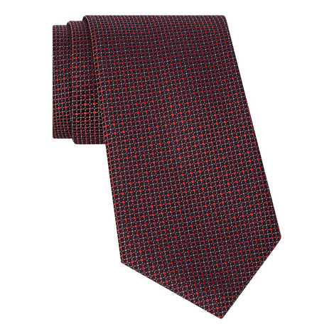 Diamond Square Silk Tie, ${color}