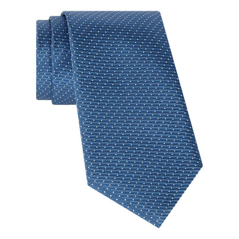 Ribbed Dotted Silk Tie, ${color}