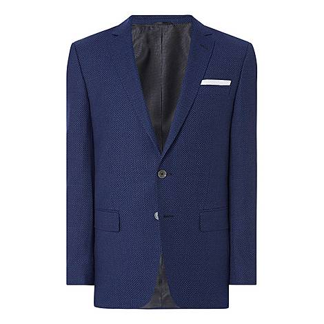 Hutsons Single-Breasted Dotted Jacket, ${color}