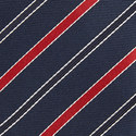 Contrast Stripe Silk Tie, ${color}