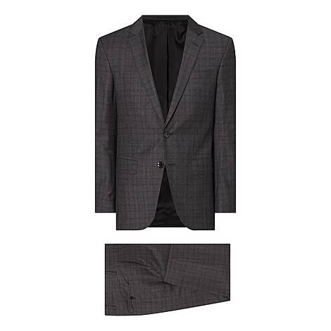 Slim Fit Check Suit, ${color}