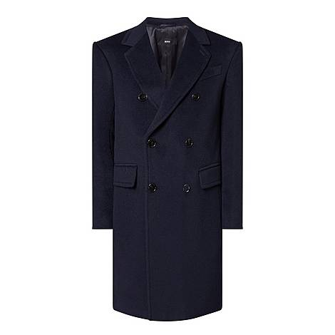 Double-Breasted Slim Fit Coat, ${color}