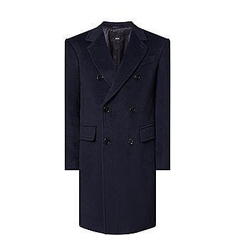 Double-Breasted Slim Fit Coat