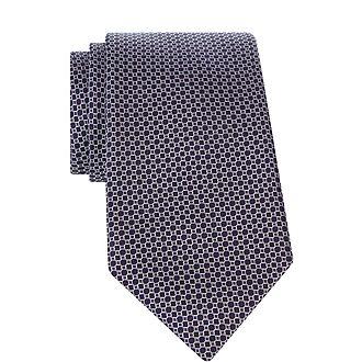 Circle Print Tie