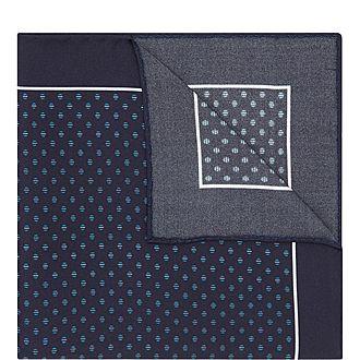 Split Dot Pocket Square