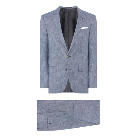 Hutsons Single-Breasted Flecked Suit, ${color}